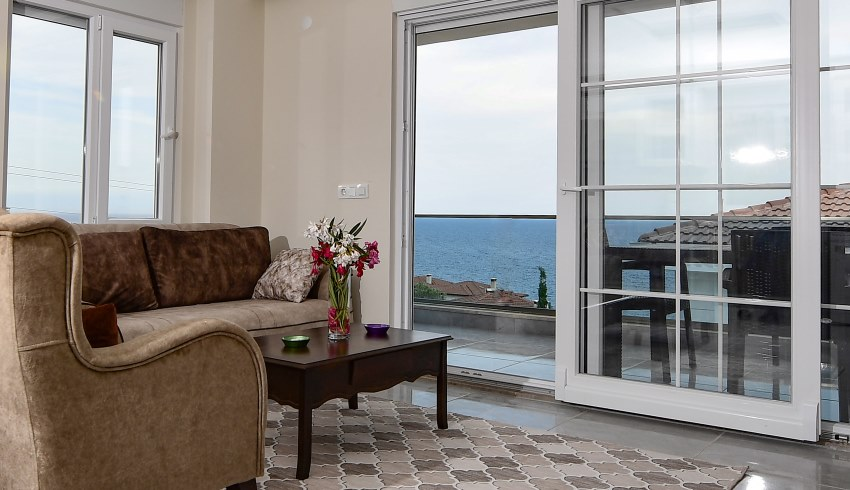 Sea view from Standard Apartment and Superior Apartment of Villa Noble Demre